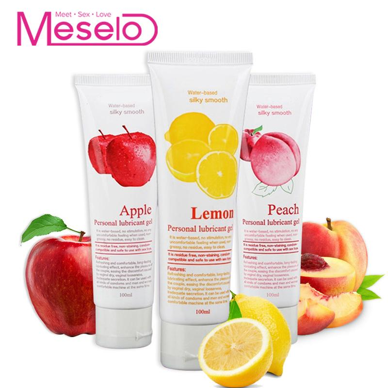 Meselo 3pcs/lot Lubricant 100ML*3, Fruit Smell Silk Touch Water-based Sex Lubrication Oil For Massage Vagina Anal Oral Sex ToysMeselo 3pcs/lot Lubricant 100ML*3, Fruit Smell Silk Touch Water-based Sex Lubrication Oil For Massage Vagina Anal Oral Sex Toys