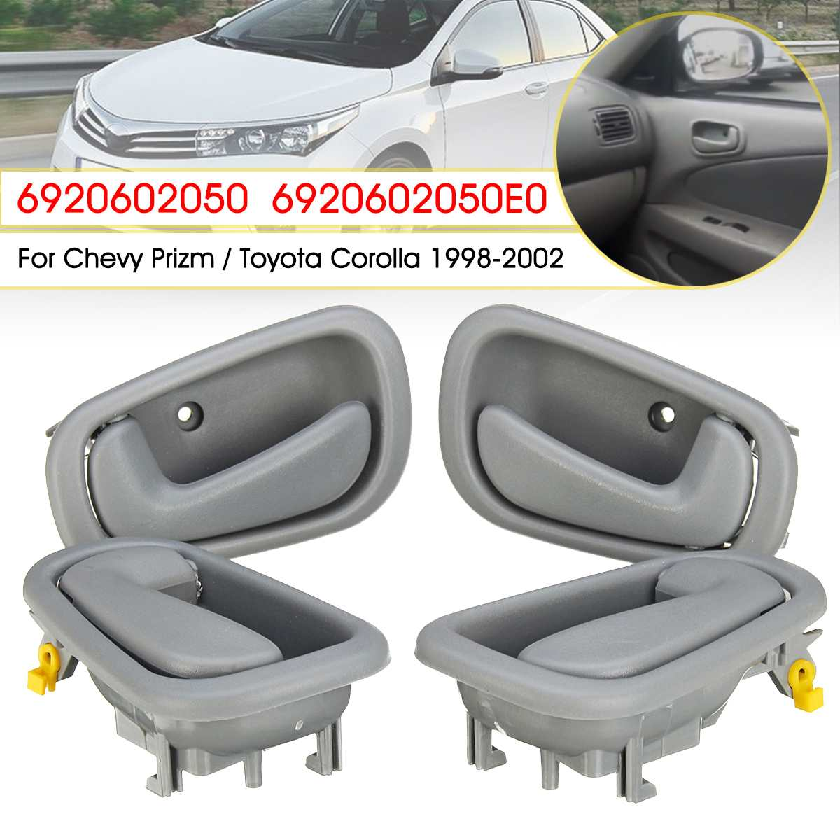 small resolution of detail feedback questions about 4pcs interior door handle inside door handles for toyota corolla geo prizm 1998 1999 2000 2001 2002 6920602050 gray on