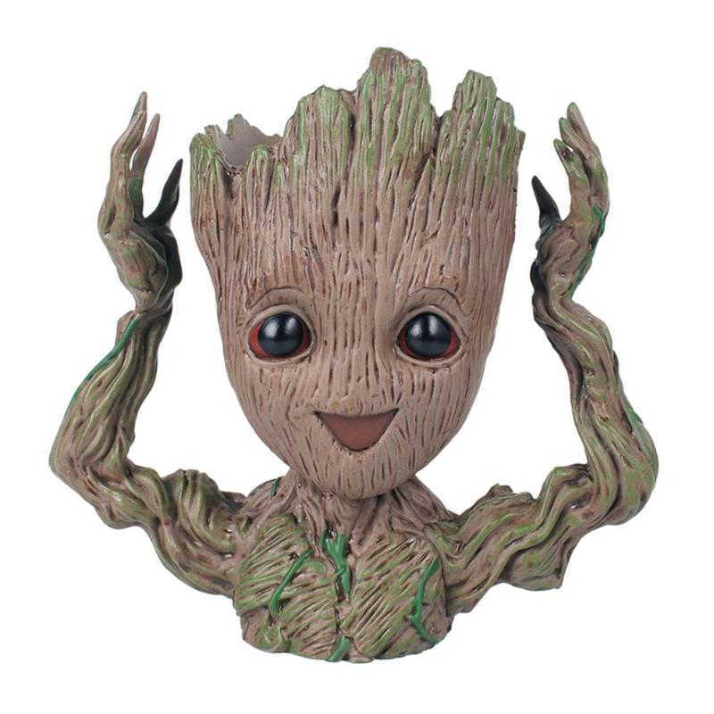 Guardians of The Galaxy I Am Groot in Flower Pot Silver Tone Necklace