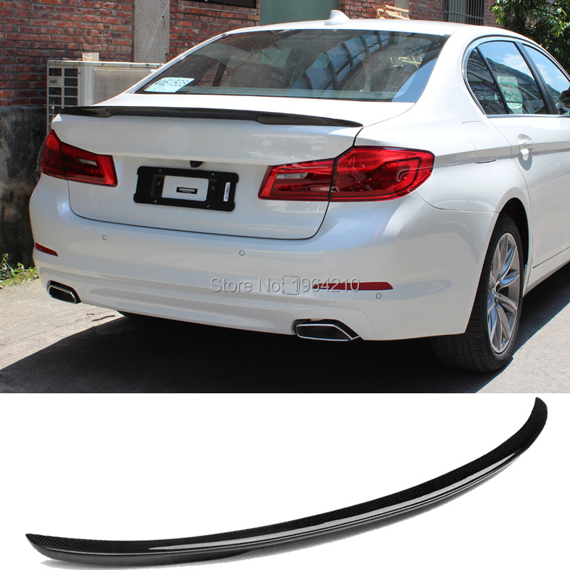 MONTFORD Car Styling ABS Plastic Unpainted Color Rear Spoiler Trunk Wing For BMW G30 G38 M5 520i 528i 535i 530i 525i 2017 2018 image