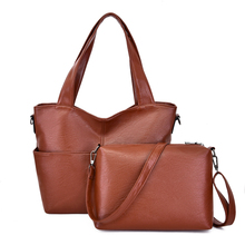 Women Handbag Leather Women Shoulder Bags 2 Sets Famous Brand Designer Women Messenger Bags Ladies Casual Tote Bags Sac A Bolsa все цены