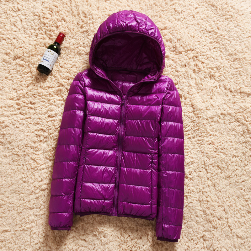 Womens Ultralight 90% White Duck   Down     Coat   Jacket Winter Warm Hoodie Outwear