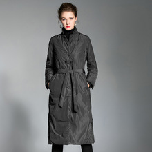 Moda feminina luz para baixo jaqueta 2018 inverno nova chegada longo overknee pato branco para baixo fino senhoras para baixo jaqueta tamanho grande