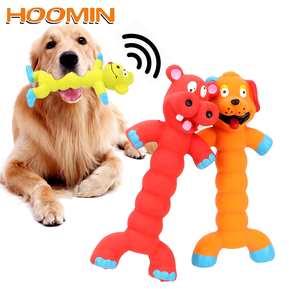 HOOMIN Puppy Pet Play Chew Toys Dogs Cats Pets Supplies Animal Shape Rubber Squeaky Sound Toy Dog Toys