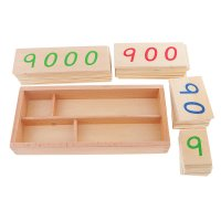 Montessori Educational Game Mathematics Card Number 1 9000 Children's Calculus Toy Math Learning Educational Intelligence Toy