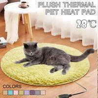 40 см Животные подогреватель для кровати мат грелку добрый кот собака кровать тела зима теплый коврик Pet плюшевые электрический Одеяло сиден...