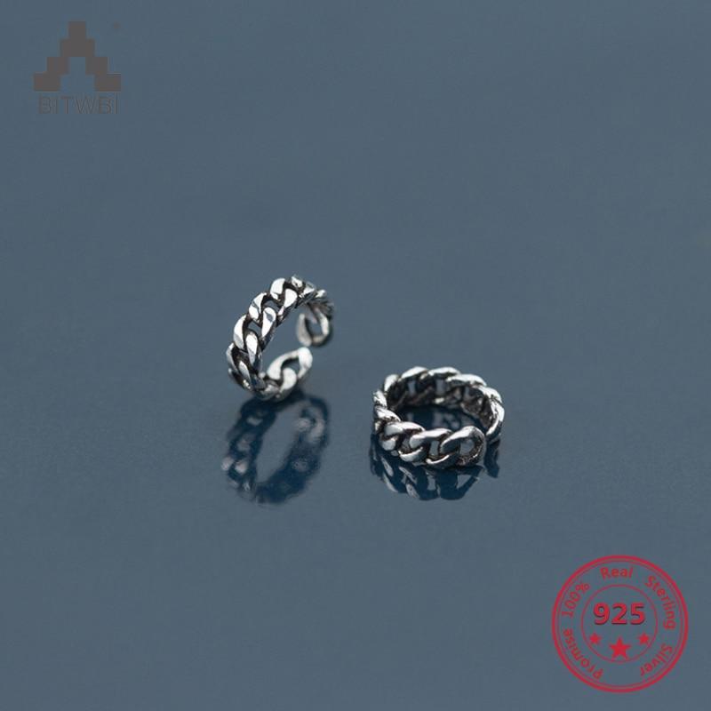 Fashion 925 Silver Ring Twist Boucles d/'oreilles plaqué or d/'oreille Crochet Femmes Bijoux Cadeau