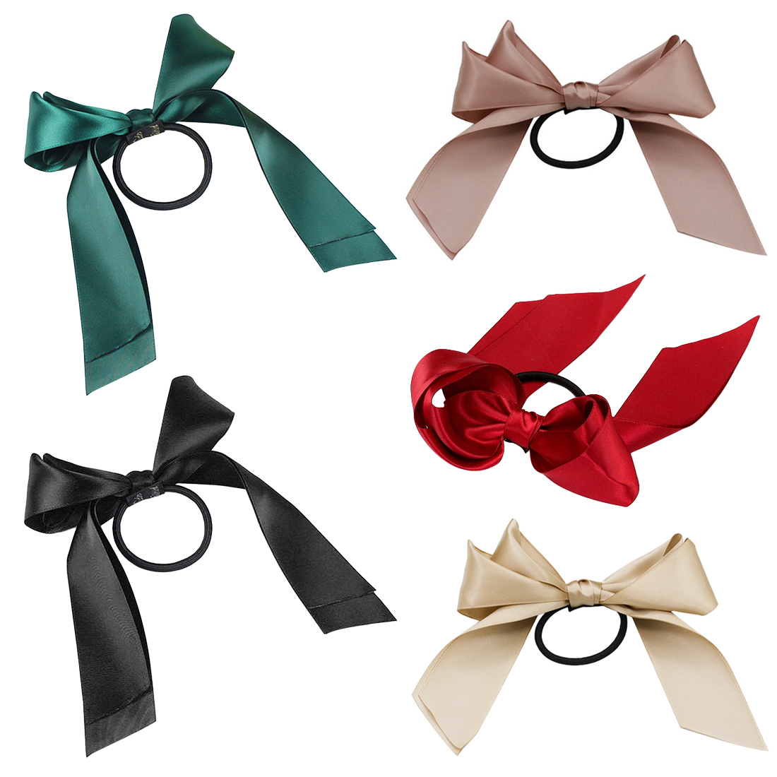 Hair ribbon is melting large bow knot hair circle popular literary rope