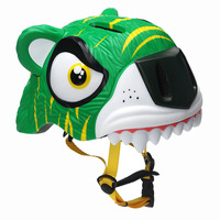 3D Clever Tiger Children Bicycle Head Helmet Adjustable Safety Helmet for Outdoor Cycling Skating Head Protector New Design 2019