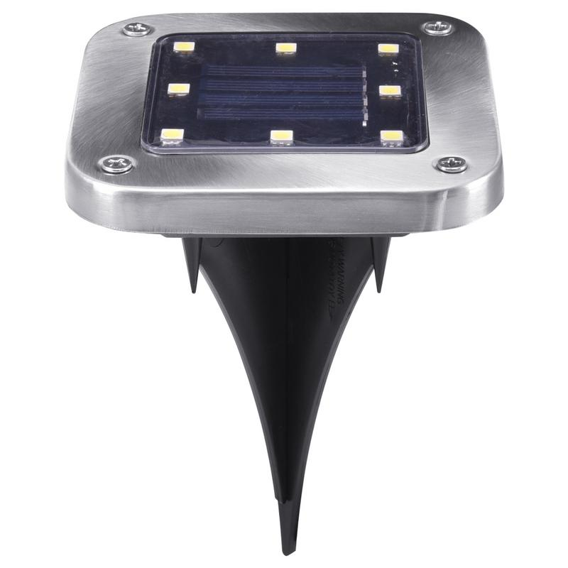 8 LED Solar Power Buried Light Under Ground Lamp Outdoor Path Way Garden Lawn Yard Outdoor Lighting