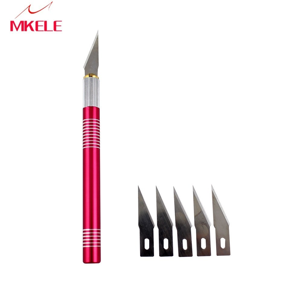 Carving Knife 5 Blades Wood Tools Fruit Food Craft Sculpture Engraving Scalpel DIY Cutting PCB Repair Karambit Cs Go  marking tools