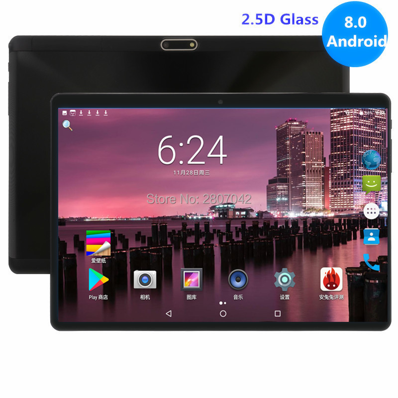 New 10 Inch Tablet 4GB RAM 64GB ROM Octa Core 1280X800 2.5D IPS Screen Dual SIM Cards 3G 4G FDD LTE Android 8.0 Google Tablets