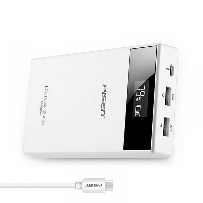 Chargeur de puissance blanc de secours portatif de la puissance 30000 mah de sortie d'usb double général 5 V 2A