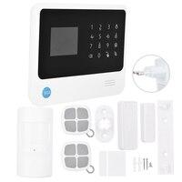 Комплект сигнализации GSM WiFi/gprсветодиодный SMS светодиодная сенсорная клавиатура сигнализация домашняя система безопасности 100 240 в EU Plug
