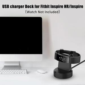 Image 5 - Universal Magnetic Charging Dock USB Ladegerät Cradle Dock Für Fitbit Inspire HR/Inspire 51x46x13mm ABS + PC 2019 Neue