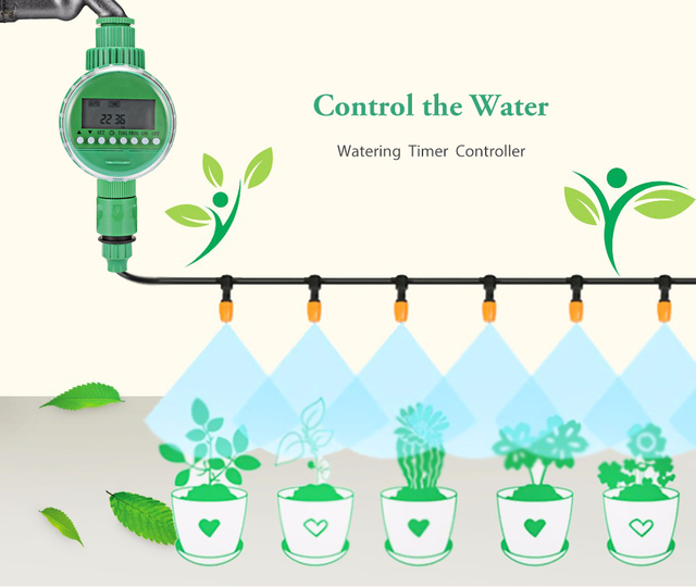 Intelligent Garden Watering Timer Automatic Flowers Irrigation Controller With LCD Display