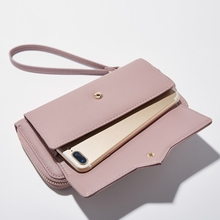 Ladies Wallet Japan And South Korea Europe And United States Simple Zipper Long Multi-Card Large Capacity Portable цена 2017