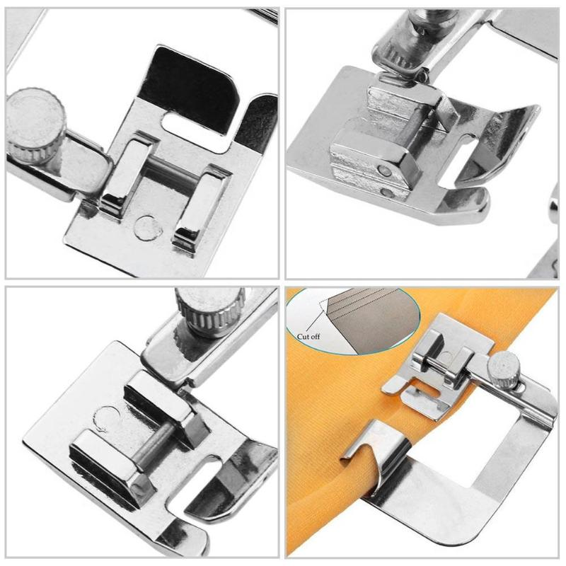 Image 5 - 13 25 cm Domestic Sewing Machine Foot Presser Rolled Hem Feet Set for Brother Singer Sewing Accessories-in Sewing Tools & Accessory from Home & Garden