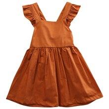 CANIS 2019 New Summer  Baby Girls Infant Wedding Party Bowknot Sleeveless Ruffled Vest Backless Dress Sundress canis 2 3 тл