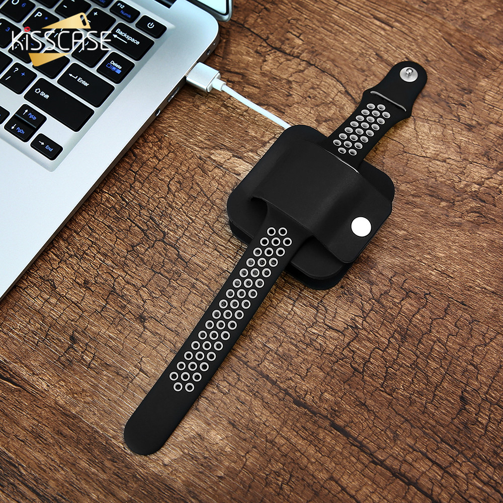 KISSCASE Charging Stand For Apple Watch Storage Dock Smart Protector Soft Silicone Desk Holder