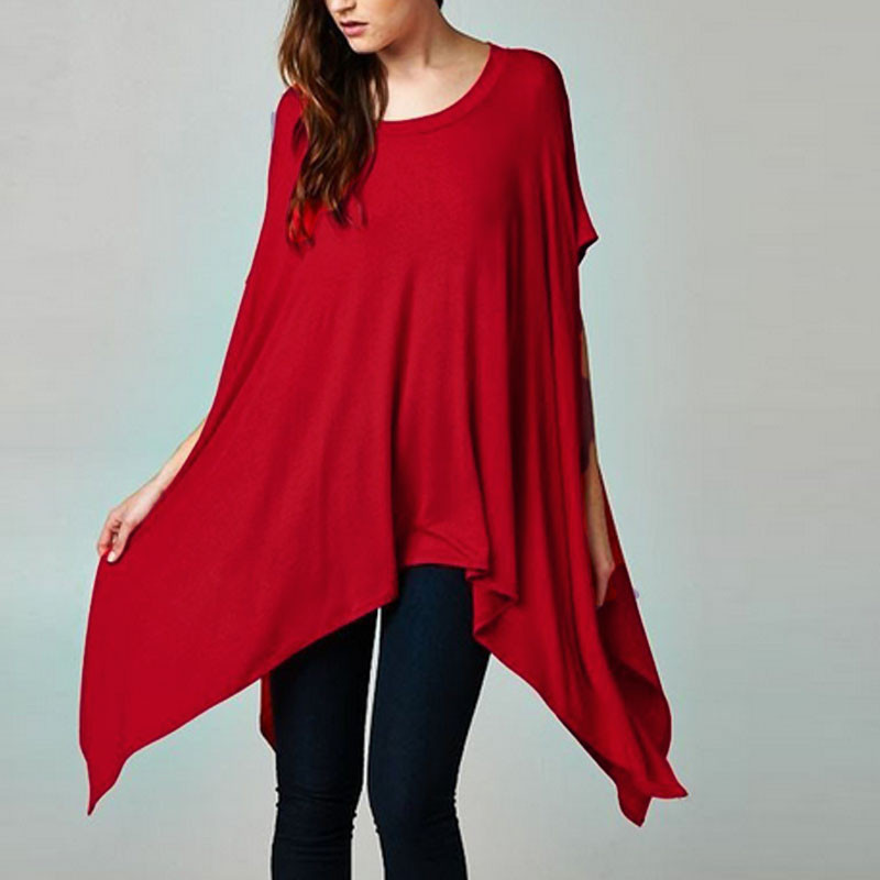 Zanzea   Blouse     Shirts   Loose Half Sleeve O-neck Solid Long Kimono   Shirt   Casual Irregular Hem Women Party Top   Shirt   Plus Size S-3XL