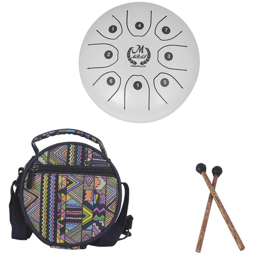 Nouveau Creative 5.5 pouces en acier langue tambour ensemble Instrument de musique tambour Instrument à Percussion avec tambour maillets porter sac enfants jouets