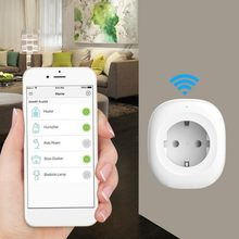 Inicio WIFI Smart Power interruptor inalámbrico enchufe UE Smart Timer compatible con Alexa para google Home Plug and Play(China)