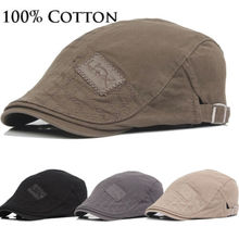 2019 Mens Hat Solid Cotton Cap Golf Driving Summer Sun Flat Newsboy Caps
