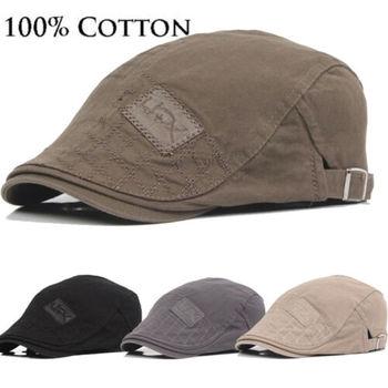 2019 chapéu masculino boné de algodão sólido golf condução verão sol liso newsboy bonés