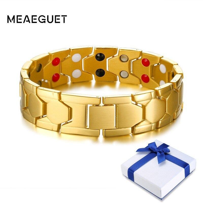 Hologramm-armbänder Edelstahl Magnetische Armbänder Bands Für Männer Männlichen Bio Gesundheit Pflege Heilung Magnet Armreifen Diy Einstellbare 8,3 Zoll Gut FüR Energie Und Die Milz