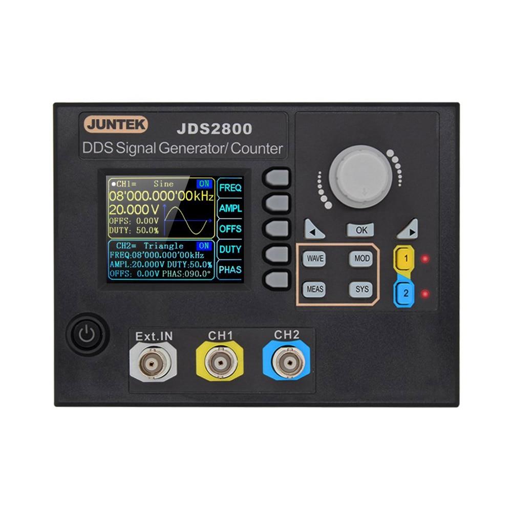 JUNTEK Signal Generator Digital Control Dual-channel DDS Function Arbitrary Signal Generator Frequency Meter 60MHz 266MSa/sJUNTEK Signal Generator Digital Control Dual-channel DDS Function Arbitrary Signal Generator Frequency Meter 60MHz 266MSa/s