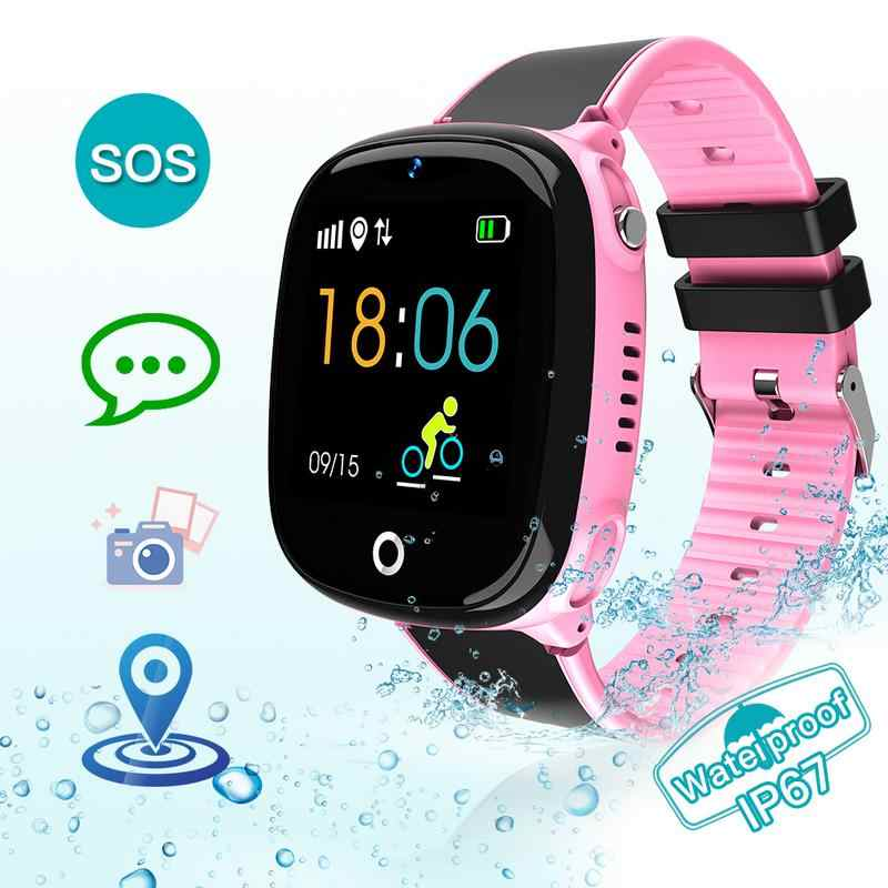 HW11 SOS Calling Children's Smart Watch GPS Tracker Kids Watches Phone Positioning IP67 Waterproof Watch For Boy And Girl