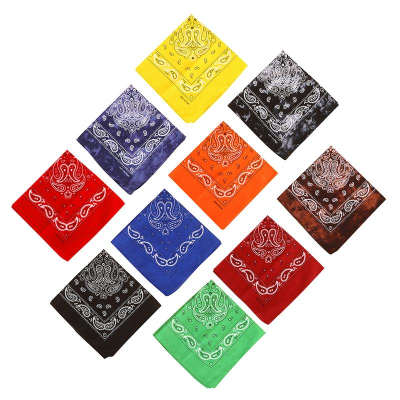 10color Women Men Outdoor Sports Print Square Cycling Headscarf Riding Bandana Scarf   Headwear   Face Mask Tube Wristband
