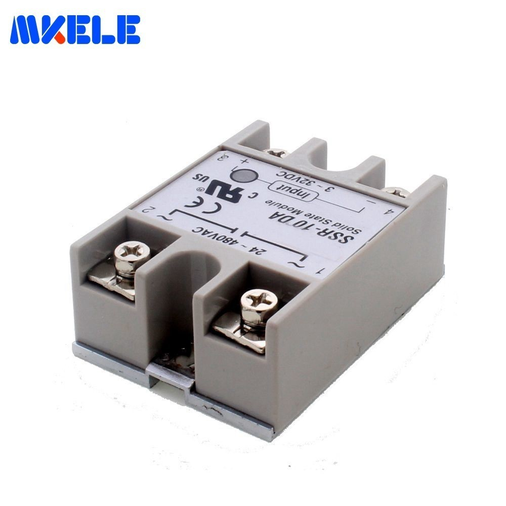 SSR-10DA 10A Soft Starting Electromagnetic Contact Relay Module Solid State Relay Low Power 3-32VDC 24-380VAC