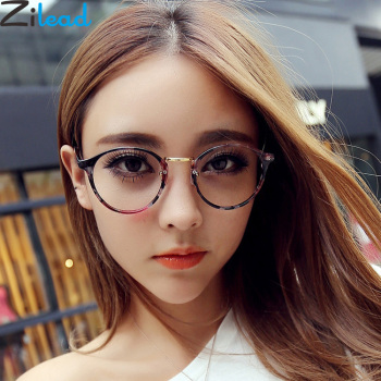 Zilead Women Floral Fnished Myopia Glasses Metal Round Nearsighted Glasses For Lady Short-sight Glasses With Degree -1.0to-4.0