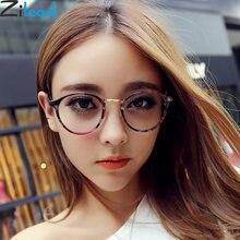 Zilead óculos femininos florais de metal, óculos de miopia, redondos, para mulheres, óculos de visão curta com grau-a-4.0