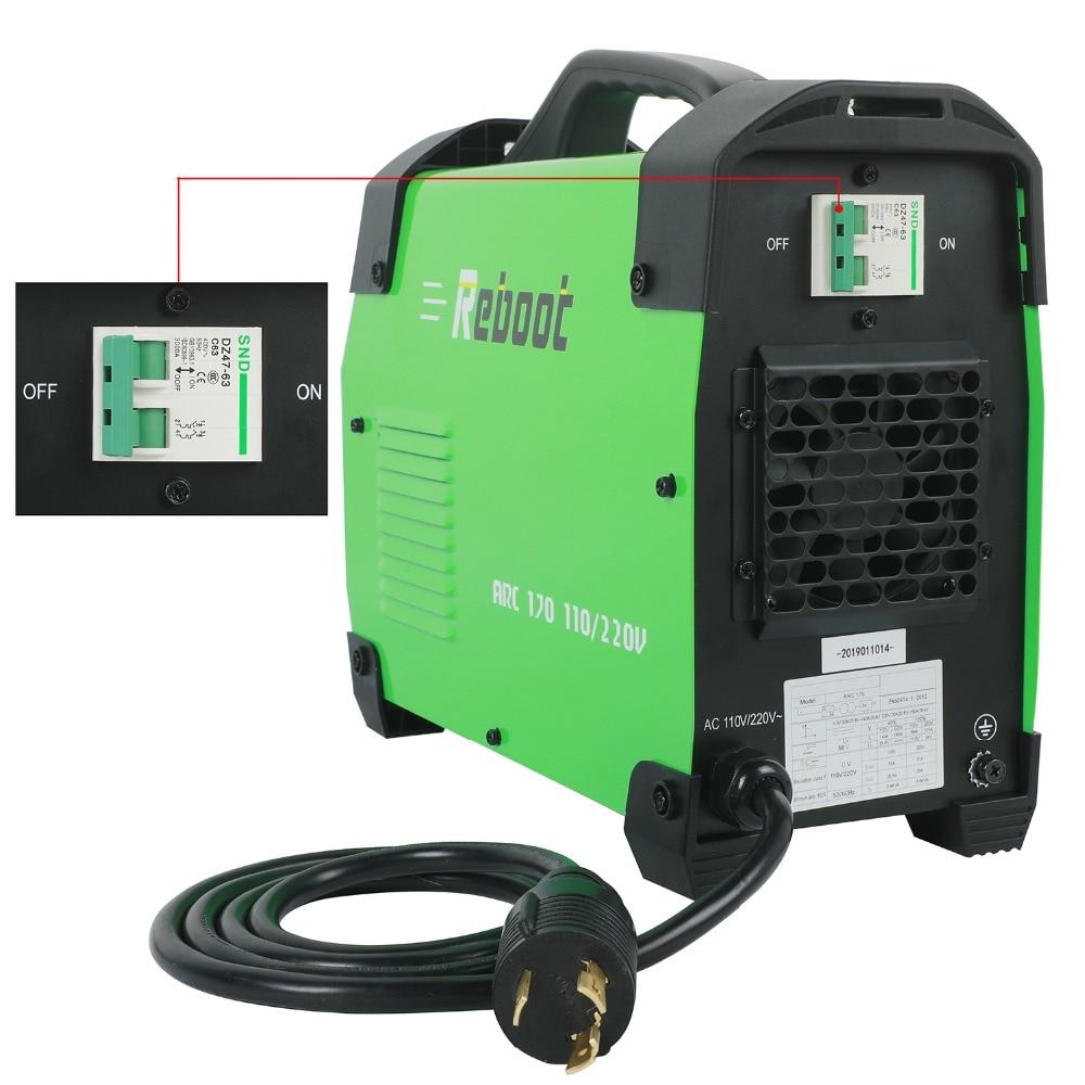 REBOOT ARC170 DC Inverter ARC Welder 110/220V IGBT Welding Machine Beginner Lightweight Efficient welding EU/US plug welder