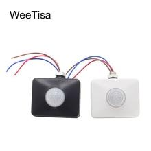 12V Motion Sensor 220V 110V PIR Infrared Automatic Movement Detector Timer DC 12V Outdoor Sensor Light Switch for LED Bulb Lamp