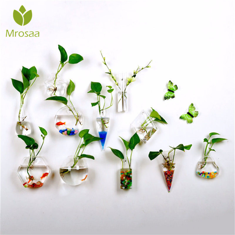 Garden Supplies High Borosilicate Glass Hanging Glass Flower Planter Vase Terrarium Container Flower Pots Home Garden Ball Decor