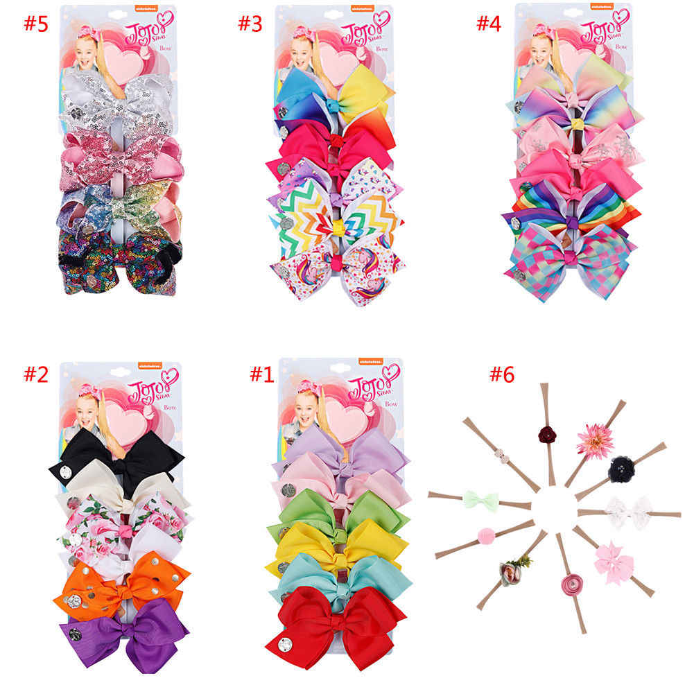 2018 New Toddler Baby Girls Headband Mix Color Big Hair Bows Knot Hair Clip Girl Toddler Baby Headband