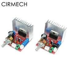 Cirmech amplificador tda7297 2.0, módulo de amplificador de áudio estéreo digital, placa de canal duplo 9 12v, saída 2x15w