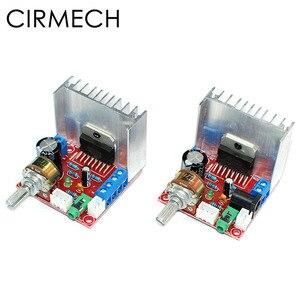 Image 1 - Cirmech amplificador tda7297 2.0, módulo de amplificador de áudio estéreo digital, placa de canal duplo 9 12v, saída 2x15w