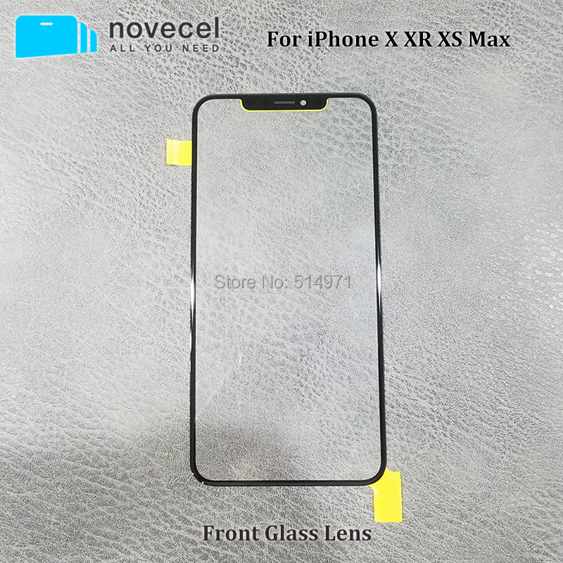 Novecel Black Ori Cold Press Front Screen Glass with For iPhone X  XR XS Max Outer Glass Lens Replacement Repair PartsNovecel Black Ori Cold Press Front Screen Glass with For iPhone X  XR XS Max Outer Glass Lens Replacement Repair Parts