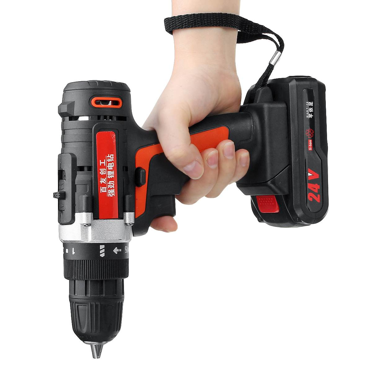 12V/24V Electric Wrench 400Nm Lithium-Ion Cordless Drill Impact Wrench Rechargeable Battery Socket Adapters Set High Torque Tool