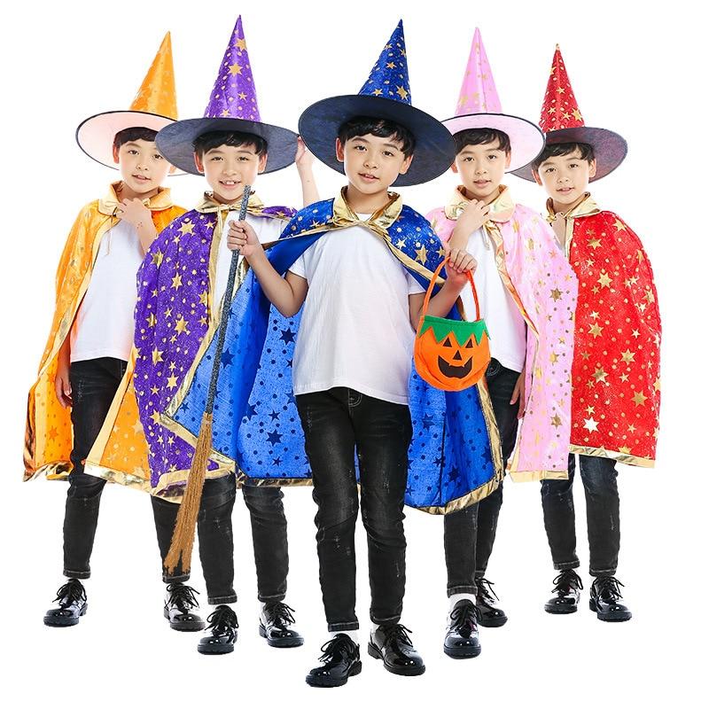 Wizard Costumes Kids Magician Costume For Children Boys Girls Halloween