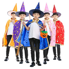 Wizard Costumes Kids Magician Costume Kids Magician Costume For Children Boys Girls Halloween Costume For Kids m xl free shipping children s halloween costumes harry potter costume boys magician costume kids cosplay