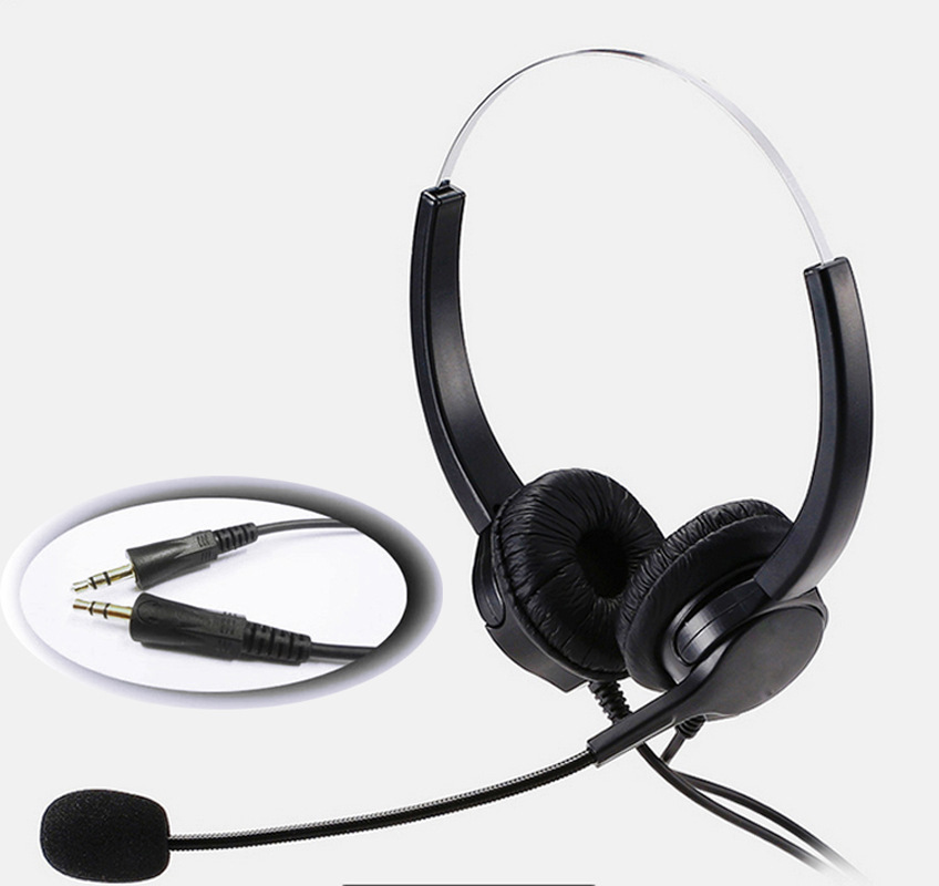 3.5mm PC Head Call Center Operator Headset  microphone headset noise cancelling for call center