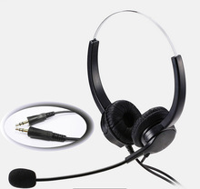 цена на 3.5mm PC Head Call Center Operator Headset  3.5mm microphone headset noise cancelling headset for call center