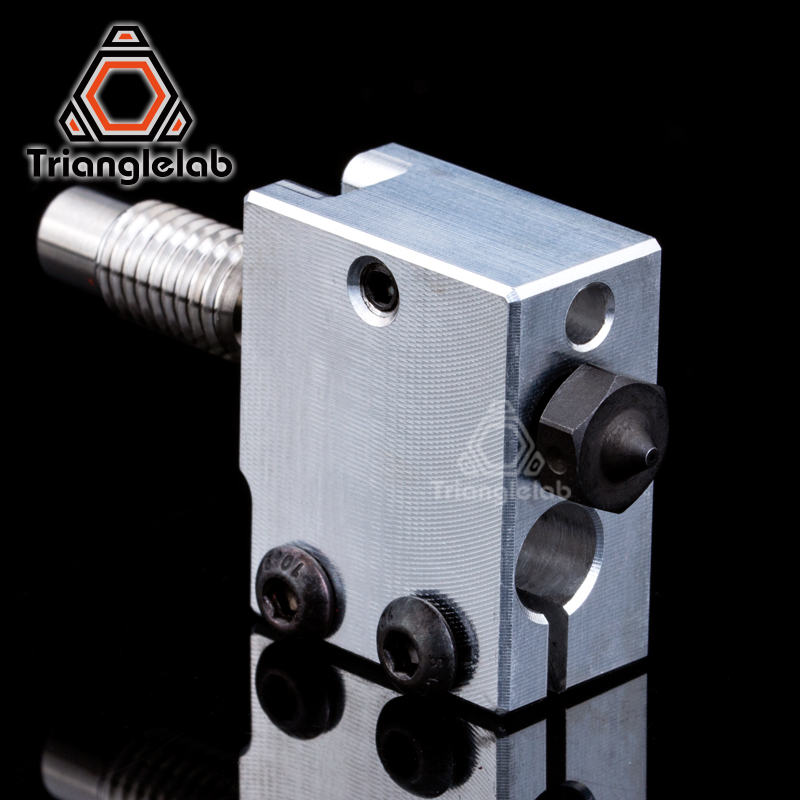 1PC Hardened Steel Volcano Nozzles Volcan heater block titanium alloy heat break TC4 for printing PEI PEEK or Carbon fiber heat assisted machining of hardened steel aisi h13