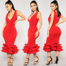 Hirigin Brand Sexy Dress 2019 Newest Dresses Womens V Neck Clubwear Party Wedding Evening Bridesmaid Formal Vestidos